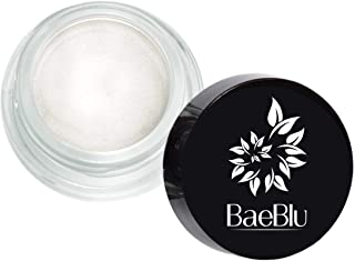 BaeBlu Organic Shimmer Highlighting Cream, for Eyes or Cheeks, 100% Natural, Satin Pearl