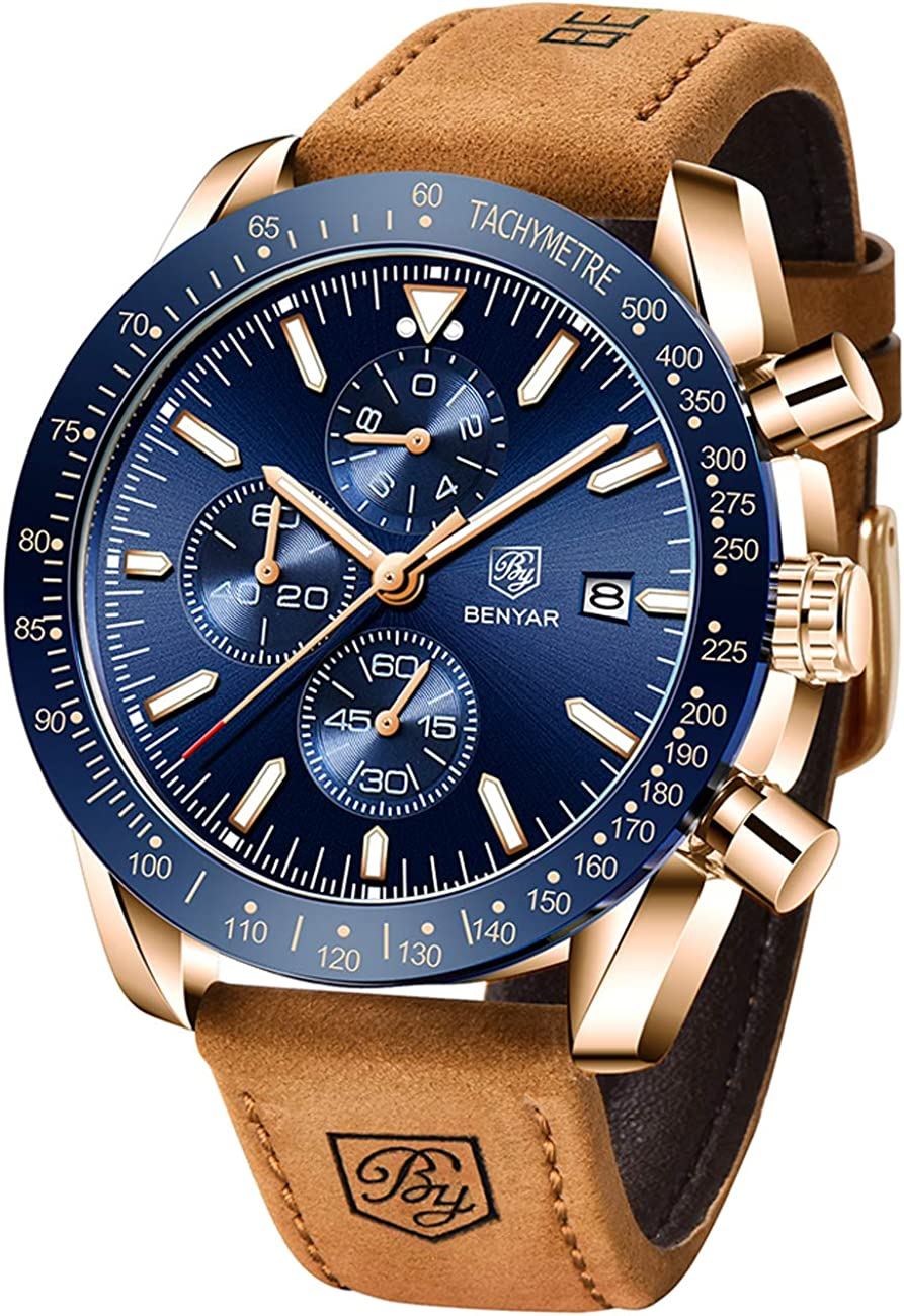 Lowest price challenge BENYAR Mens Watches Quartz Max 56% OFF Chronograph Luxury Brand Wat Business
