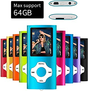 MYMAHDI Support TF Card USB Port Slim Small Multi-Lingual Selection 1.8 LCD Portable MP3/MP4, MP3 Player, MP4 Player, Vide...