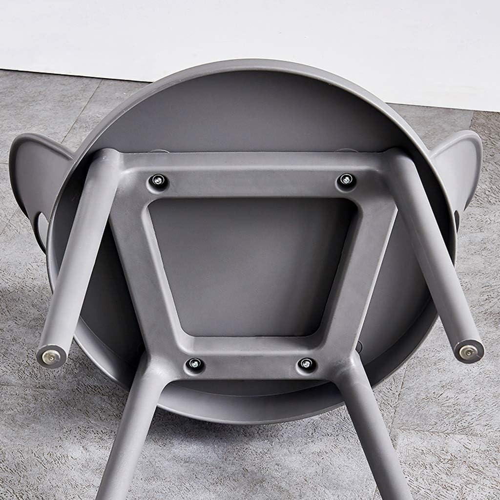 WDX- Chaise de Salle, Chaise de Bureau Simple, créative Dossier, Chaise Loisirs, Maison Adulte Chaise de Salle Confortable (Color : Yellow) Gray