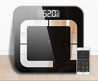 Básculas de grasa corporal Pesar Mi Escala Inteligente Baño Grasa Corporal Balanza de Pesaje de Equilibrio Bluetooth Humano Weigt Bmi Escala Piso 20 Datos Negro