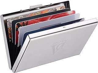 Adorner-Tarjetero para Tarjetas de Crédita, Diseño Elegante de Acero Inoxidable con 6 Ranuras, para tarjeta de Credito, Tarjeta de Identificación, Tarjeta Bancaria y Billetes, acero inoxidable