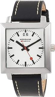 Mondaine - A685.30336.11SBB - Reloj analógico de cuarzo con correa de piel negra - sumergible a 30 metros