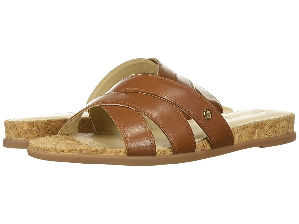 Hush Puppies Dalmatian Slide (Tan Leather) Women