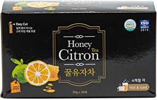 [JEOLLANAMDO] Honey Yuza Citron Tea - Caffeine Free, Product of Korea - 20 Sticks