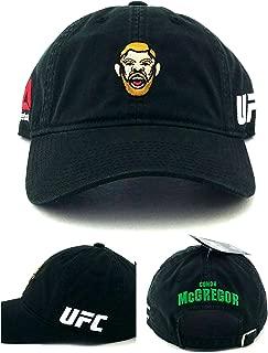 Reebok UFC New MMA Conor McGregor Head Character Black Dad Era Strapback Hat Cap
