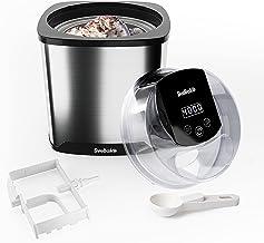 SveBake Machine à Glace 2L, Sorbetière Électrique pour Sorbet, Glacée e Yaourt avec Recette