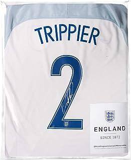 Icons.com Kieran Trippier Official England Back Signed 2016-17 Home Shirt