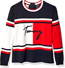 Tommy Hilfiger Women`s Adaptive Colorblock Sweater with Magnetic Closure at Center Back