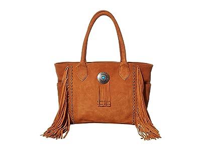 Scully Valentine Suede Fringe Handbag (Cinnamon) Handbags