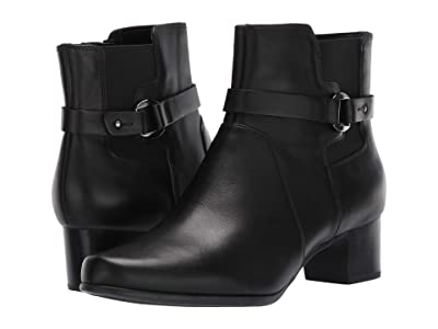 Clarks Un Damson Mid (Black Leather) Women