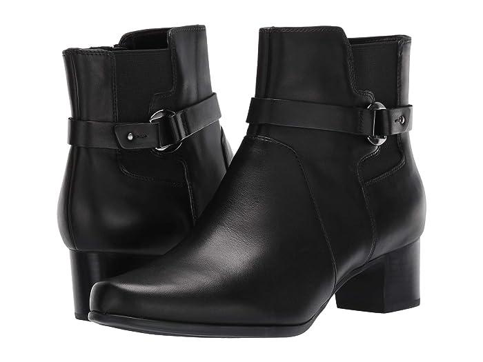 Clarks  Un Damson Mid (Black Leather) Womens  Boots