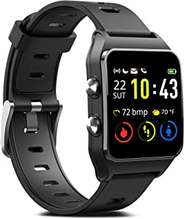 GPS Running Smart Watch, IP68 Waterproof Fitness Tracker with 17 Sport Mode, Touch Screen Heart Rate & Sleep Monitor with Pedometer Calorie Counter Activity Tracker for Men Women Android & iPhone