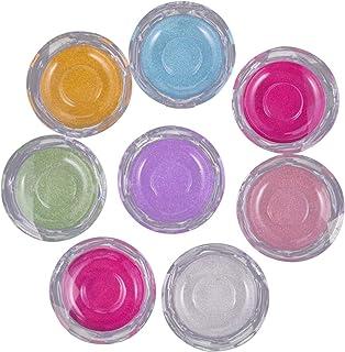 FRCOLOR 8 Stks Valse Wimper Case Crystal Ronde Glitter Lege Wimper Verpakking Opbergdoos Case Organizer Container Houder V...