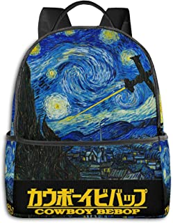 Anime & Cowboy Bebop - Starry Night Classic Student School Bag School Cycling Leisure Travel Camping Outdoor Backpack