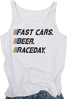 MAXIMGR Beer Never Broke My Heart Tank Top Women Funny Saying Sleeveless Racerback Summer T-Shirt Vest Beer Tanks