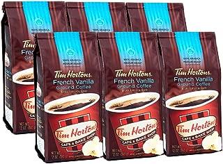 Tim Hortons 100% Arabica Medium Roast, French Vanilla, 12 Ounce (Pack of 6)