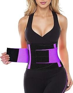 Mujer Faja Reductora Abdominal Adelgazante Lumbar Fajas Reductoras Abdomen Adjustable para Deporte Fitness Postparto