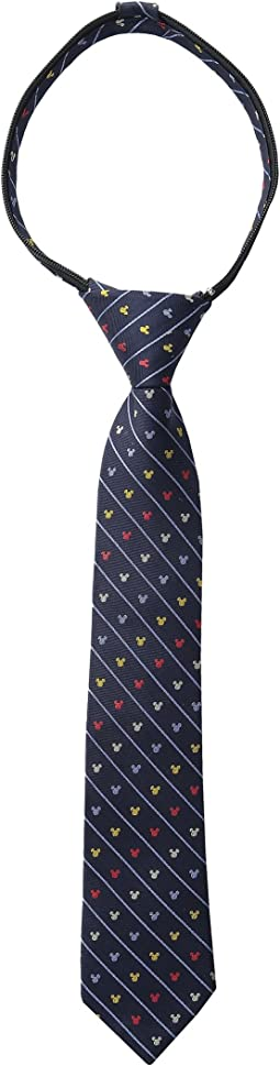 Cufflinks Inc. Mickey Pinstripe Zipper Tie (Toddler/Little Kid/Big Kid)