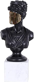 PPCP Crafts Decorations · Masked Apollo Character Decorations Nautical Protector Marble Artwork, Size: 9.06X9.06XH17.32IN