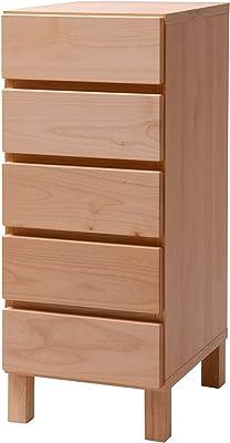 大川家具 アビライト 日本製 チェスト 天然木アルダー材角脚シリーズ 5段チェスト 幅34 fk0014