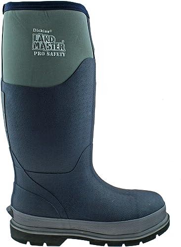 DICKIES LANDMASTER PRO SAFETY NAVY grau REFLECTIVE NEOPRENE Stiefel WELLIES FW9902-UK 10 (EU 44)