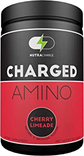 NutraCharge Charged Amino, Amino + Energy + Hydration, Caffeinated Amino Acids with Electrolytes, Pre Workout & Post Worko...