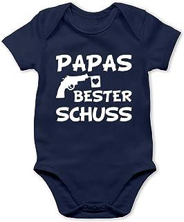 Shirtracer Papas Bester Treffer - weiß - Baby Body Kurzarm für Jungen und Mädchen