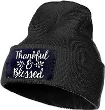 Mens and Womens Beanie Hat Galaxy Thankful Blessed-1 Classic Cuffed Plain Skull Knit Hat Cap Sports Fan Watch Cap Black