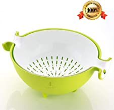 HINMIN™ Multifunctional Washing Vegetables and Fruit Draining Basket Strainer Detachable Double Layer Drain Baskets Salad Bowl