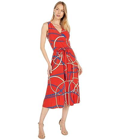 LAUREN Ralph Lauren Print Tie-Waist Jersey Dress