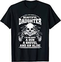 Protective Gun Lover Dad Pro 2nd Amendment Daughter Graphic T-Shirt