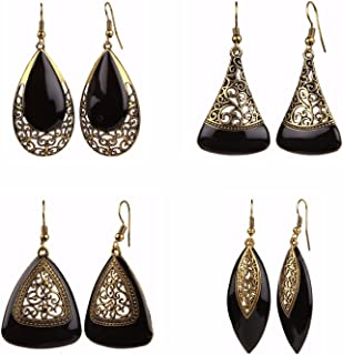 Efulgenz Indian Jewelry Bollywood Ethnic Combo of Danglers Earrings for Girls and Women
