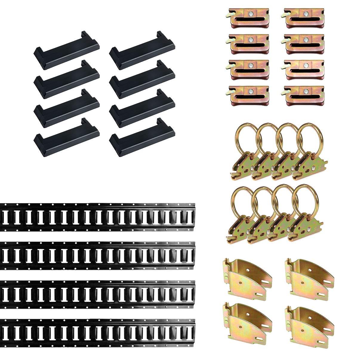 32 Pieces E-Track Accessories /& E-Track... DC Cargo Mall E Track Tie-Down Kit