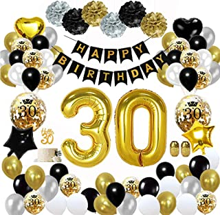 60 Numeri Palloncini Compleanno Decorazioni Anniversario Matrimonio per Uomini e Donne Fontee/® 20 Pezzi 12 Pollici Lattice 60 Anni Palloncini Oro