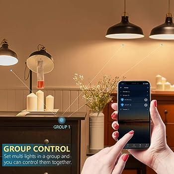 BERENNIS Smart WiFi Light Bulbs, Color Changing LED Lights, Work with Alexa Echo, Google Home, Siri and IFTTT, No Hub...
