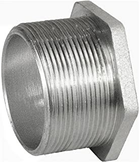 1 Pc, Stainless Steel Threaded Chase Nipple, 4 In, 316Ss