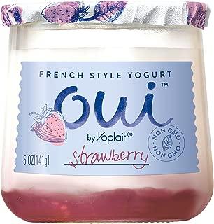 Oui by Yoplait French Style Yogurt, Non-GMO, Gluten Free Yogurt, Strawberry, 5.0 oz