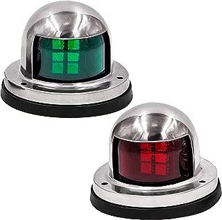 Infinite Beauty 12V Stainless Steel and Waterproof Boat Marine Lights, 4W Power LED Marine Navigation Lights for Pontoon Boats LED, Navigation Light Bulbs for Boat, Marine Navigation Lights