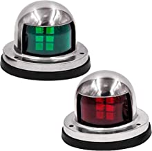 Boxgear LED Navigation Lights for Boats, DC 12V Marine Sailing Signal Lights with Stainless Steel Covers, Marine Navigation Bow Lights for Port Side, Starboard, Pontoons, Chandlery Boat, Yacht
