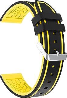 Fmway Repuesto de Correa Reloj 22mm de Silicona para Samsung Galaxy Watch 46mm / Gear S3 Frontier/Gear S3 Classic/Moto 360 2. Generation 46mm Hombre y Mujer
