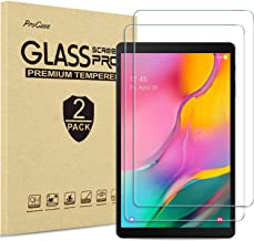 [2 Pack] ProCase Galaxy Tab A 10.1 2019 Screen Protector SM-T510 T515 T517, Tempered Glass Screen Film Guard 9H Hardness Screen Protector for 10.1 Inch Galaxy Tab A Tablet