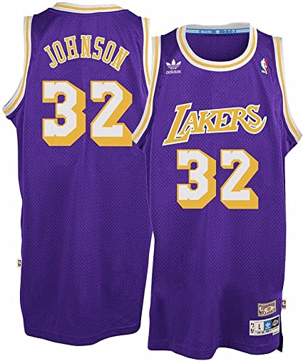 Amazon.com : adidas Magic Johnson Los Angeles Lakers Purple ...