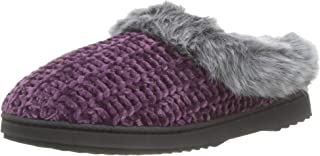Dearfoams Chenille Knit Clog, Zapatillas de Estar por casa Mujer