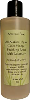 Natural First Organic Apple Cider Vinegar Finishing Rinse w/Rosemary for Dandruff Control 8oz