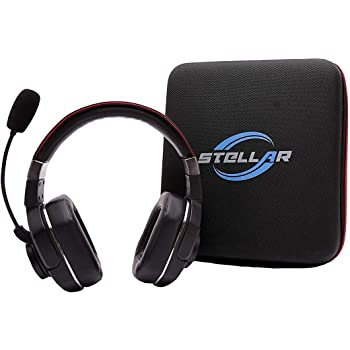 Amazon Com Stellar Electronic Pluto Duo Bundle 60 Hrs Talk Time 99 Noise Cancellation Best Bluetooth Headset For Truckers And Drivers Computers Accessories
