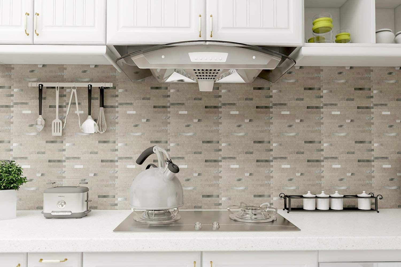 Buy Art3d 12x12 Peel And Stick Backsplash Tile For Kitchen Faux Stone Backsplash 5 Tiles Online In Hungary B07cxq8hfm