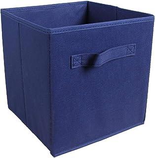 LNSTORE 26 * 20 * 17 cm de boîte de Rangement de Tissu Pliable Poubelle boîte de Rangement Tissu Panier Pliant tiroir Doub...