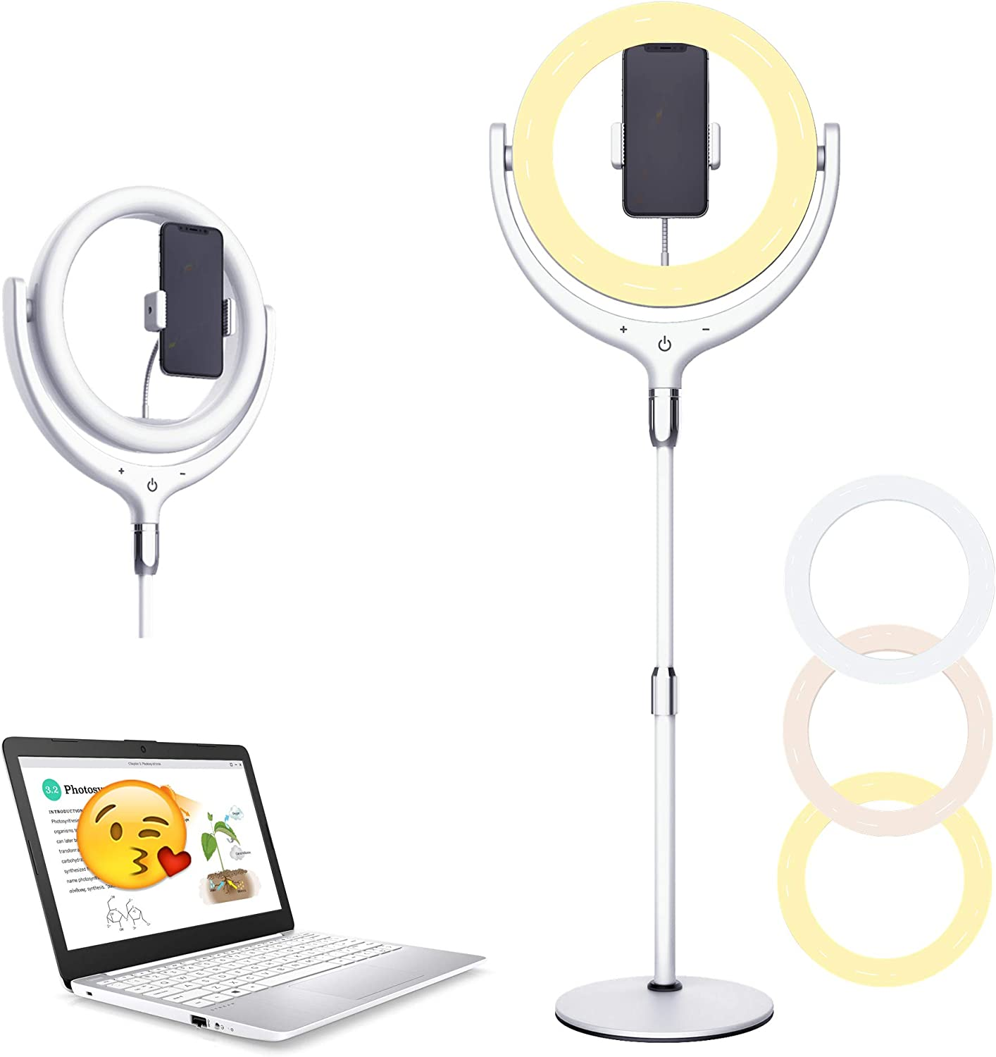 12''Computer Ring Light for Lighting Limited time cheap sale OFFicial mail order Adjustab Conferencing Video