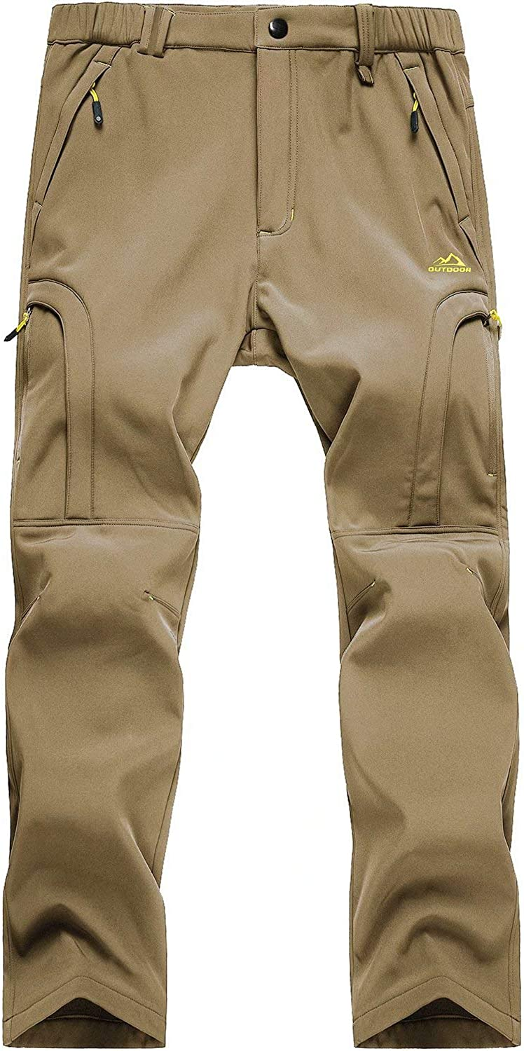 MAGCOMSEN Men's Water Resistant Hiking Ranking TOP6 Pants Zip Softshe Quantity limited Pockets